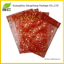 Guangzhou factory sale organza tropical gift bag
