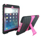 Lightweight Shockproof Drop Resistance Rugged Silicone + Plastic 2 Layer Hybrid Defender Protection Case for Apple iPad mini