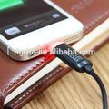 rápido carregamento e transmissão de dados cabo usb com luz led para iphone 5