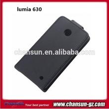 phone black leather flip case for nokia lumia 630