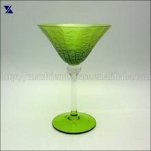 wine glass with ball stem ,martini glass hand blown