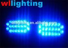 Blue Red White Yellow car 2 x 22 led strobe led warning light 12volts Car grill Truck 2x22 LED flashing emergency Light