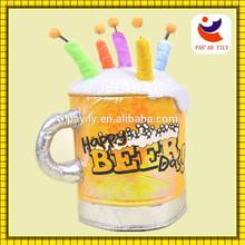 la novedad de cumpleaños feliz fiesta de la cerveza gracioso sombrero sombrero de carnaval