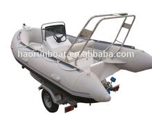 11.8ft 3.6m inflatable fiberglass fishing sport boat rigid hull boat Ribs with trailer