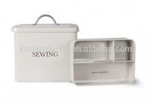 Metal sewing box