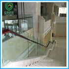 indoor glass stair railings