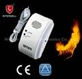 Detector de gas de alarma uso en el hogar diseño cumple gráficos de extremo a extremo en50194