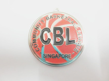 CBL community basketball league Singapore red enamel medals nickel plated medals