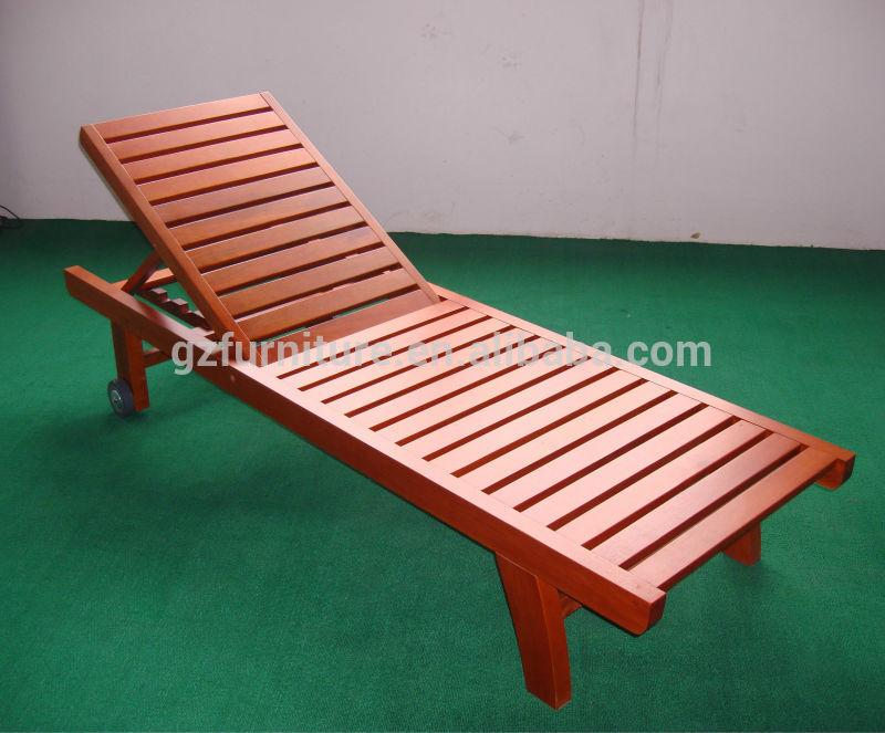 Chaise En Bois Exterieur - Jardin extérieur meubles en bois des chaises longues pour les ventes