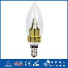Werun Made In China 3w led candle light bulb e14