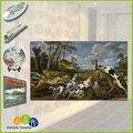 arte de la cerámica mural de la reproducción de perro de caza pintura al óleo