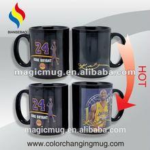 NBA Black Thermal Sensitive Ceramic Mug Kobe Mug With Wholesale In Shenzhen Biansebao