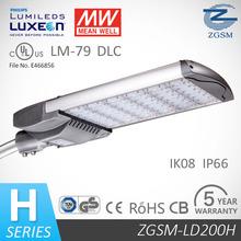200W LED Street Light with High-Grade LED Luminous Source