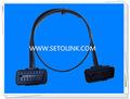 Nouvelle mince plat câble OBDII 16 pino j1962 adaptateur mâle à femelle connecteur