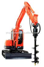 Auger Drive & Auger Attachment for Excavator, Skid Steer, Backhoe, Truck Crane, Telehandler