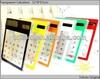 Cartoon solar calculator