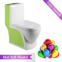 HS-1533E wash down bathroom ware european design one-piece siphonic toilet