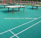 interlocking suspended flooring for table tennis court