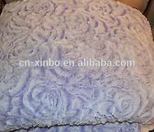 "2014 Sherpa Purple or Brown Filled Mink Blanket Queen Size 79"" x 96"""