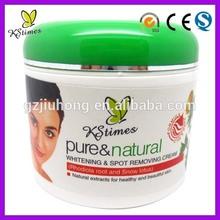 Rápido efeito de clareamento manchas de pigmentação remoção branqueador creme para o rosto