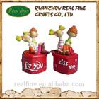Resin Wedding figurine , Cartoon Resin Wedding box, Lovely Resin Wedding Gift