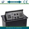 Versteckt tischplatte intelligenten steckdose 3 pin stecker für uns( US100- 5n.)