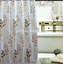 Waterproof printed nature shower curtains