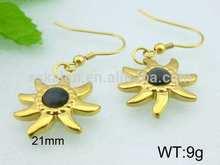 Kalen fashion fake gold earrings 14k gold earrings