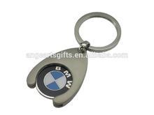 2014 BMW coin keychain car coin holder keychain car logo key rings