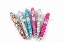 wholesale fashion 10.5cm twist beaded pen cute ballpoint pen