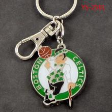 YS-2581 NBA Basketball Boston Celtics Sports Heavyweight Keychain Key Ring Keyholder
