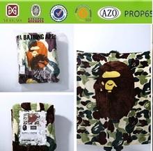 Camouflage ape man design throw/bed sheet /manta /flannel fleece blanket