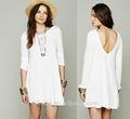 algodón vestido de verano inteligente ropa casual para la mujer