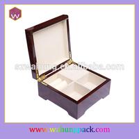 small wooden luxury jewelry music box