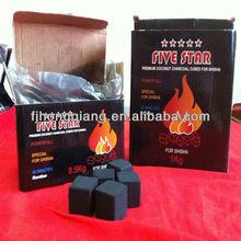 Hong Qiang hot sale bamboo cube charcoal coal for shisha bbq