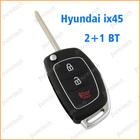 car flip remote key blanks custom for hyundai ix45 car key 2+1 buttons key box