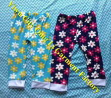 Stock Baby Girls Casual Clothing Infant & Toddler Fall Flower Print Loose Wide Leg Ruffled Pants