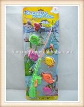 Kids Hot sale plastic funny color magnetic fishing game toys set