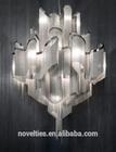 Indoor Fancy decorative lighting chrome chandelier for restaurant