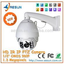 "1.3 Megapixels 1/3"" CMOS IP IR PTZ Speed dome Camera outdoor ptz ip camera poe"