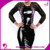 ladies hot girl sexy leather dress