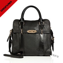 2014 fashionable super sophisticated textured leather office lady tote