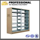 6 layer Double Side Vertical Steel School Library Bookshelf