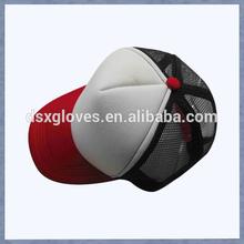 Red Visor Black Mesh Trucker Caps Wholesale Blank Trucker Caps