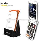 big button senior mobile phone with gsm dual sim card, big keyboard sos key elder phone