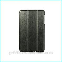 Leather flip auto wake sleep case for samsung galaxy tab 4 8.0-black