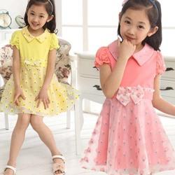 Taq1038 Children's clothes girls 2014 children's summer wear princess dress baby girl party dress children frocks designs