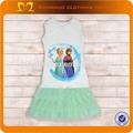 nuovo arrivo Elsa design abito di cotone estate abito tutù per 5 anni ragazza