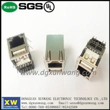 ROHS/UL Shielded Metal RJ45+USB Connector RJ45 Type Mudular Plugs