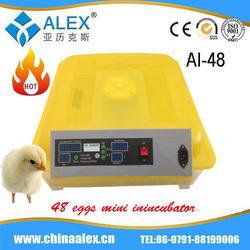 Egg incubator parts household automatic egg mini incubator AI-48 for sale